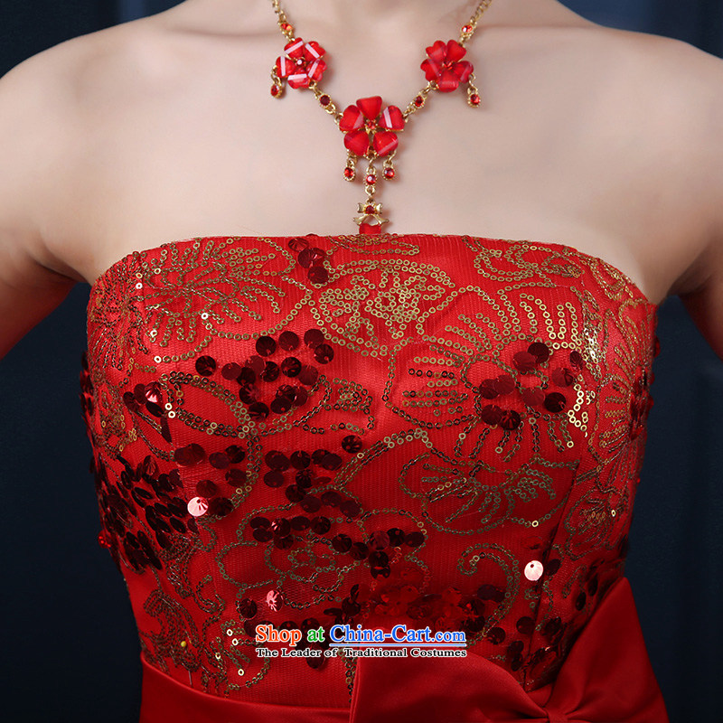 7 7 color tone 2015 National new bride front stub long after the marriage of lace red bows to small girl聽L005 qipao gown skirts聽and chest) S, 7 color 7 Tone , , , shopping on the Internet
