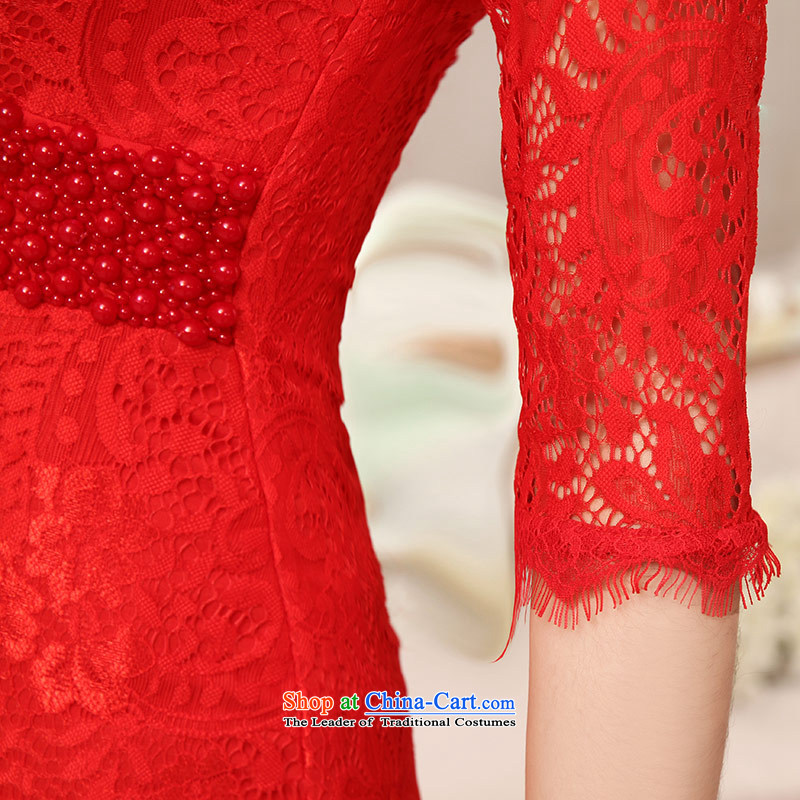Love of the overcharged wedding dresses new marriages bows Services 2014 Red Dress long thin red Sau San S VIDEO love of the overcharged shopping on the Internet has been pressed.