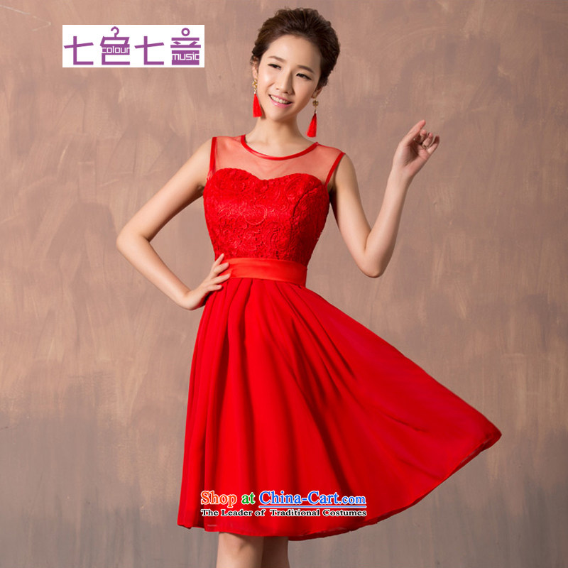 7 7 color tone�2015 New Red Dress lace short of marriages bows services wedding dresses�L012�red short,�XXL