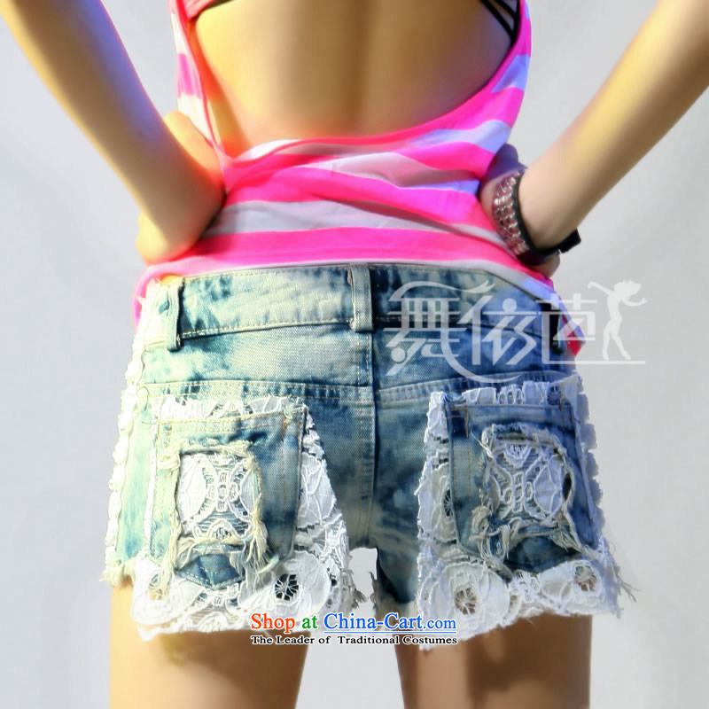 In the summer and autumn of 2013 Leisure jeans lace footsore bleaching hot pants #8481 grayMin code, in accordance with the hip.... dance shopping on the Internet