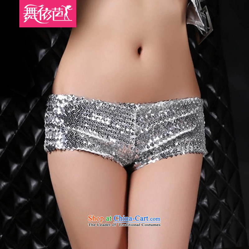 In accordance with the hip night dancing bar serving dance ds hip-hop hip hop jazz concert services on-chip low-rise shorts hot pants #8439 silver M in number, in accordance with the hip.... dance shopping on the Internet