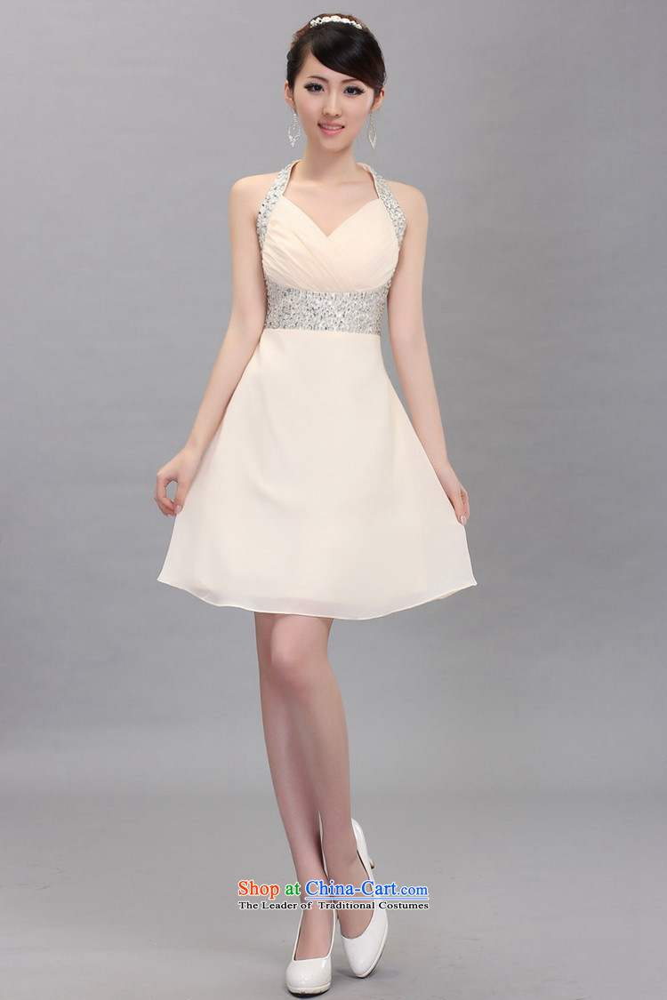 Shez&live Women 2014 bride bows evening dress short, Hang Sau San dress stars also chaired wedding dress champagne color L picture, prices, brand platters! The elections are supplied in the national character of distribution, so action, buy now enjoy more preferential! As soon as possible.