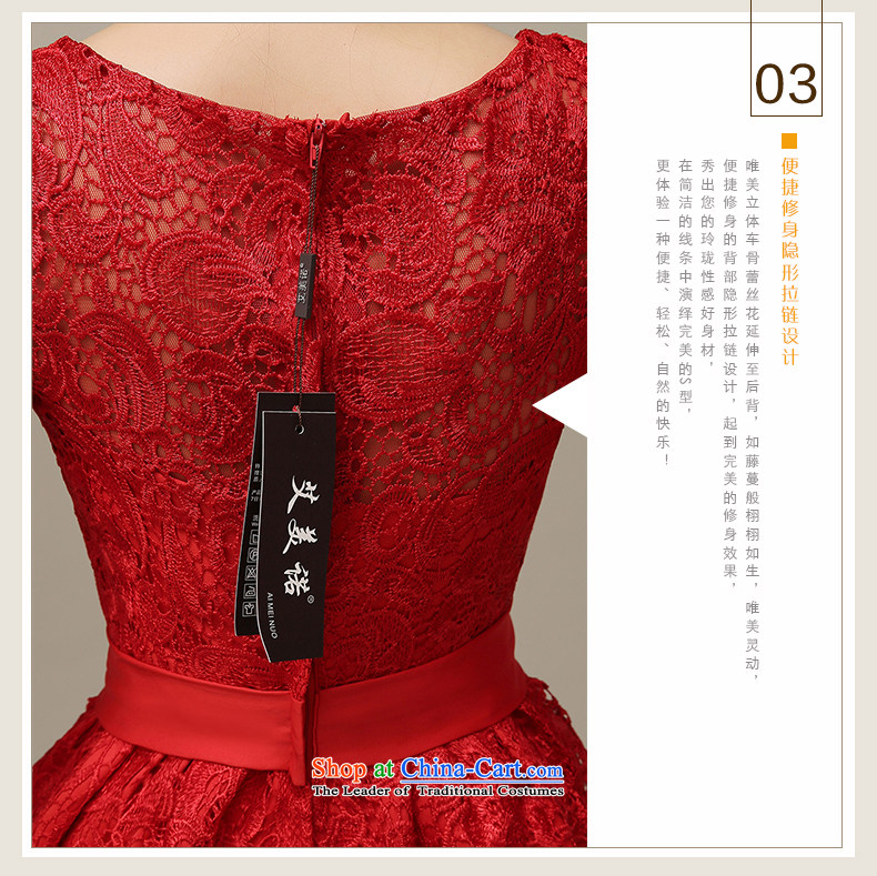 The HIV2015 Spring/Summer Evening Dress Short of Korean red lace in cuff qipao marriages bows services willL0044 M picture, prices, brand platters! The elections are supplied in the national character of distribution, so action, buy now enjoy more preferential! As soon as possible.