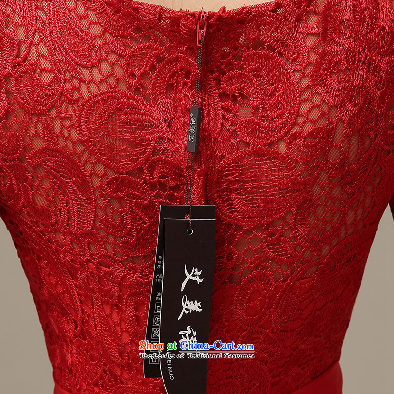 The HIV2015 Spring/Summer Evening Dress Short of Korean red lace in cuff qipao marriages bows services willL0044 M HIV Miele shopping on the Internet has been pressed.