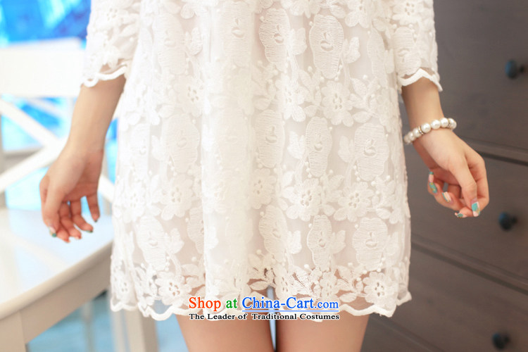 In  2015, the new card engraving lace in Sau San cuff dress dresses  SW15015 White M picture, prices, brand platters! The elections are supplied in the national character of distribution, so action, buy now enjoy more preferential! As soon as possible.