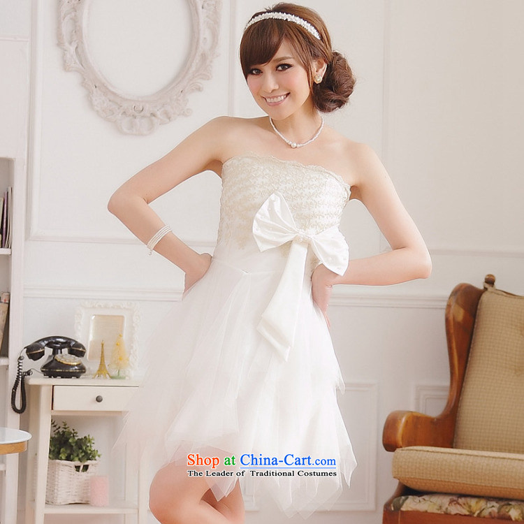 158 stylish and the Princess Mary Magdalene chest embroidered dress bridesmaid cake coagulates sister small dress large Bow Tie Top Loin of thick mm video thin princess skirt short skirt WhiteXL 115-135 for a catty picture, prices, brand platters! The elections are supplied in the national character of distribution, so action, buy now enjoy more preferential! As soon as possible.