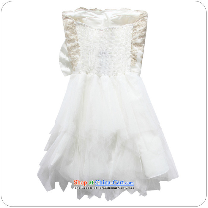 158 stylish and the Princess Mary Magdalene chest embroidered dress bridesmaid cake coagulates sister small dress large Bow Tie Top Loin of thick mm video thin princess skirt short skirt White XL 115-135 for a catty picture, prices, brand platters! The elections are supplied in the national character of distribution, so action, buy now enjoy more preferential! As soon as possible.