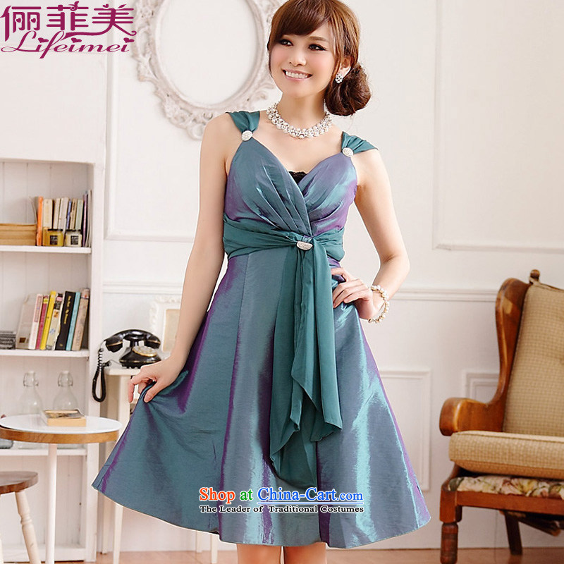 158, large load on beauty mm dress skirt deep V sexy western style temperament no sleeved vest with removable evening dress drill clip even turning green聽XXXL skirt for 160-180 catty