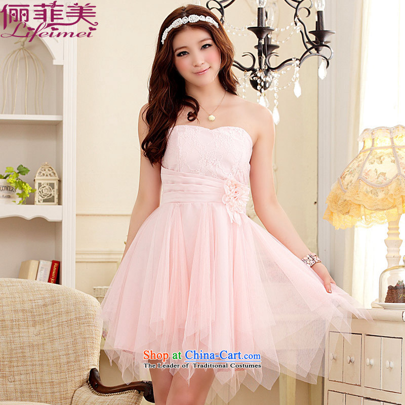 158 large and the women's dresses and thick mm small chest lace spelling rules do not mesh with the short, sister bridesmaid small pink dresses XXL 135-155 for a catty
