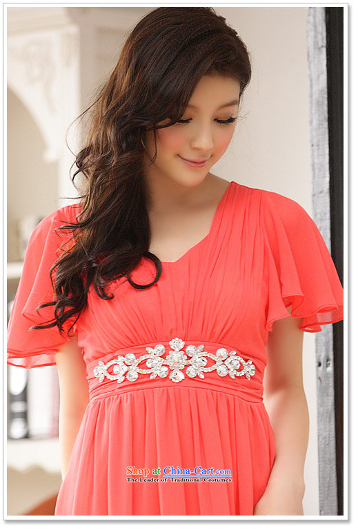158, beauty with dress long evening dresses banquet with star temperament Fei Fei Sleeve V-Neck elastic waist with drill in smaller dress code F champagne color pictures are, prices, brand platters! The elections are supplied in the national character of distribution, so action, buy now enjoy more preferential! As soon as possible.