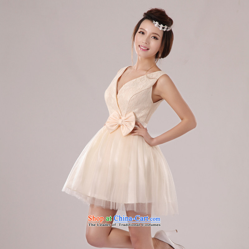 Baby bride 2014 wedding dresses shoulders deep V-neck and sexy elegant in-the-know small dress banquet hosted evening dress uniform bridesmaid dress skirt sister skirt incense fashionable colors聽XL, darling Bride (BABY BPIDEB) , , , shopping on the Internet