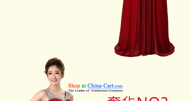 Talk to Her dress long 2015 new Korean fashion V-Neck Bridal Services under the auspices of dress bows to larger evening banquet dress wine red M picture, prices, brand platters! The elections are supplied in the national character of distribution, so action, buy now enjoy more preferential! As soon as possible.