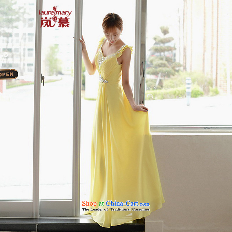The sponsors of the 2015 New LAURELMARY, Korean Princess fungus edge shoulders creases manually Stitch pearl Foutune of video thin back evening dress as figure?80 chest PUERTORRICANS color waist64)