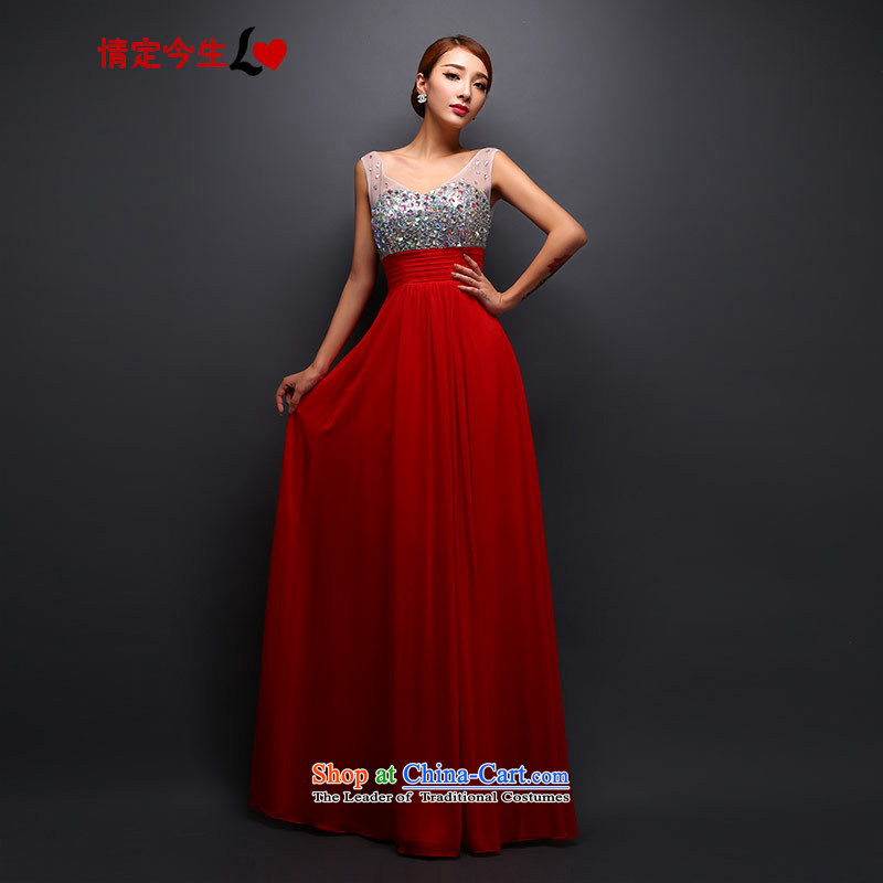 Love of the overcharged wedding dresses new V-Neck multimedia drill one Field Service and stylish shoulder bride bows red tailor-made for Sau San concepts Message Size