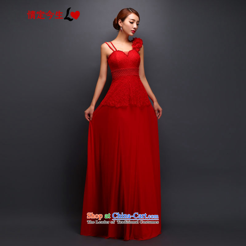 Love of the overcharged long Sau San shoulder lace to bride wedding dress red bows Service Bridal Fashion red tailor-made exclusively concept Message Size