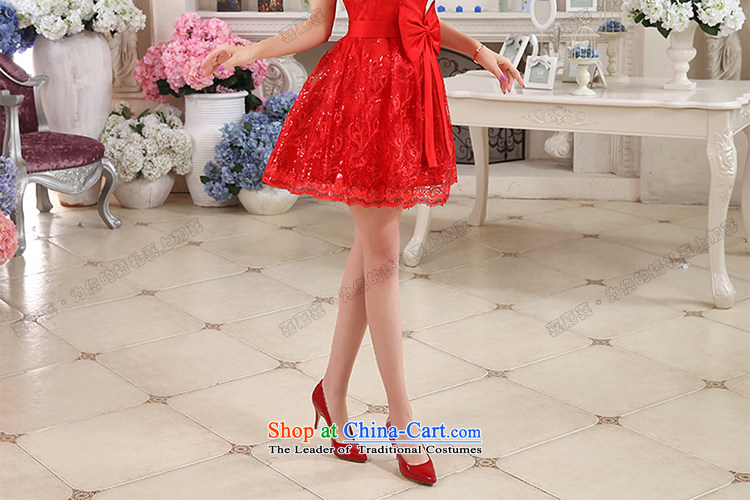 Hei Kaki 2015 autumn and winter new short, wipe the chest small evening dresses bridesmaid skirt bow tie lace petticoats聽NF24聽RED聽XL Photo, prices, brand platters! The elections are supplied in the national character of distribution, so action, buy now enjoy more preferential! As soon as possible.