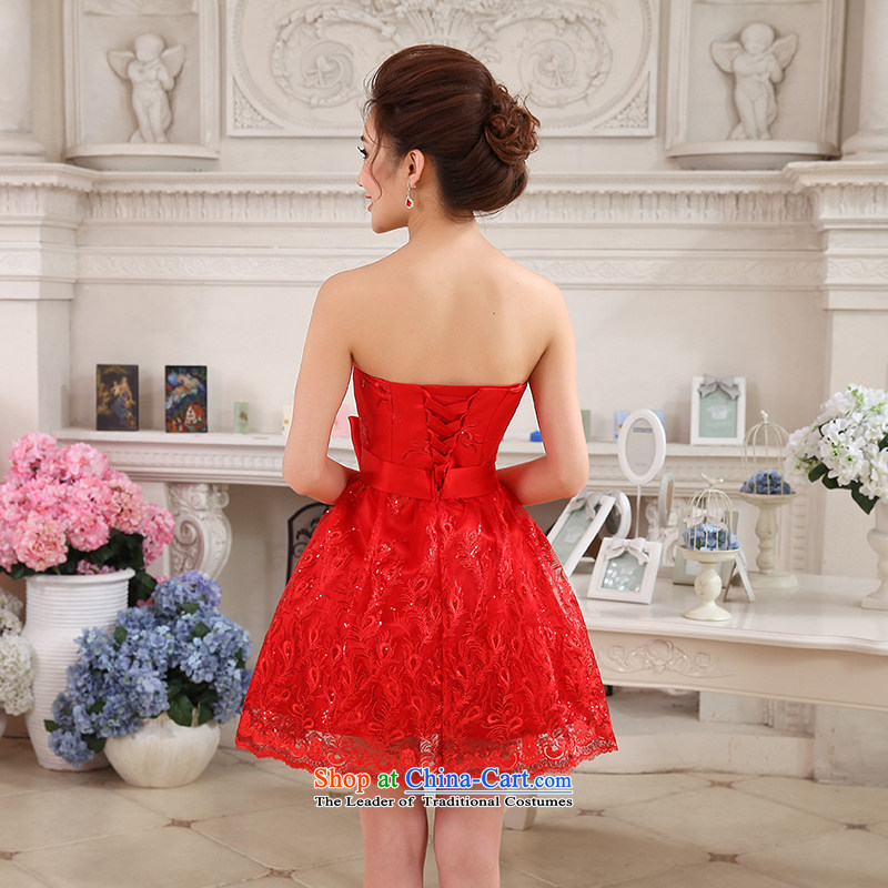 Hei Kaki 2015 autumn and winter new short, wipe the chest small evening dresses bridesmaid skirt bow tie lace petticoats NF24 RED XL, Hei Kaki shopping on the Internet has been pressed.