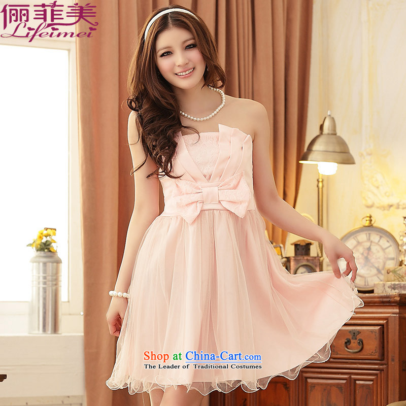 To increase the number and the dress and chest bridesmaid Princess Top Loin temperament thick mm even turning skirt assemble the sister dress dresses pink�XL suitable for 120-140 catty