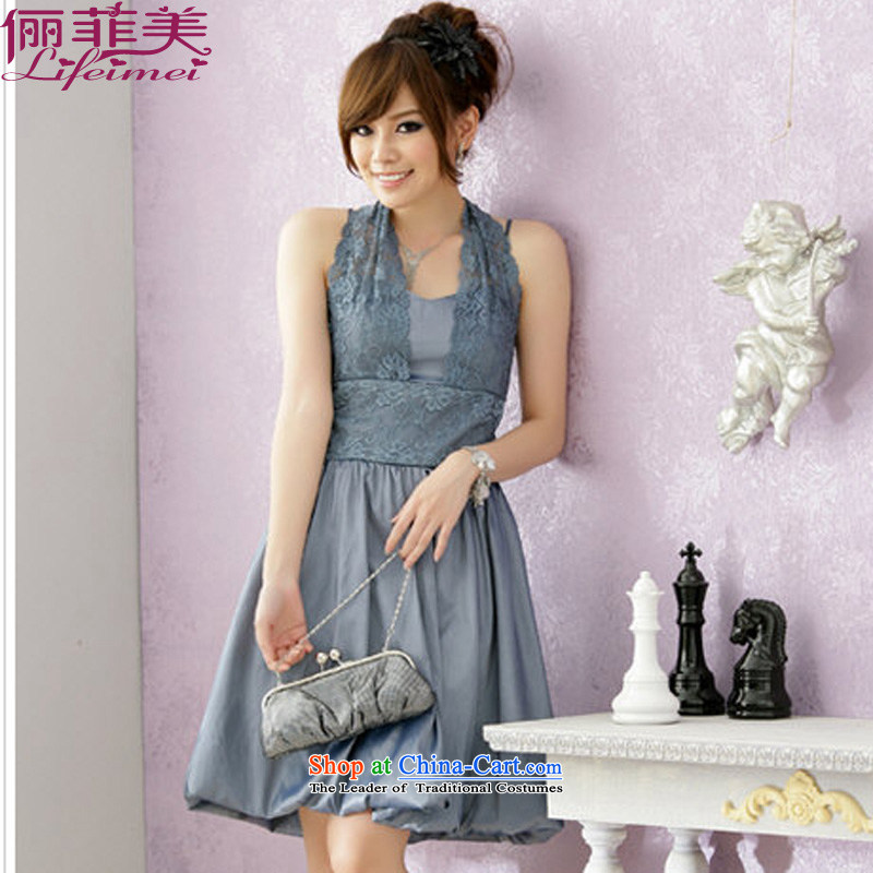 158 and XL dress neckband lanterns swing dresses V-Neck Top Loin of Sau San video thin dinner show small dress light gray?XXL 135-155 for a catty