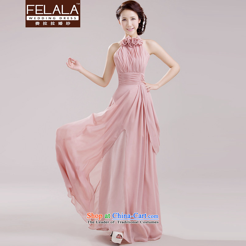 Ferrara pink new sister skirt the betrothal bridesmaid Dress Short) bridesmaid skirt bridesmaid large mission evening dresses D long S Suzhou Shipment
