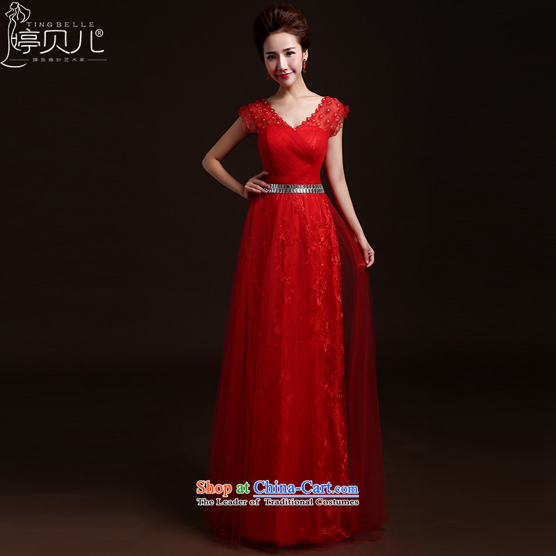 Beverly Ting wedding dresses new 2015 new stylish spring and summer bridesmaid services marriages bows to Sau San long shoulders evening dresses RED?M