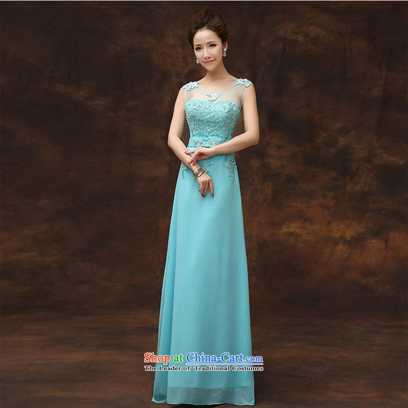 According to Lin Sa 2015 Spring/Summer new bridesmaid dress a field shoulder marriages bows service long graphics thin moderator evening dresses tailored consulting customer service