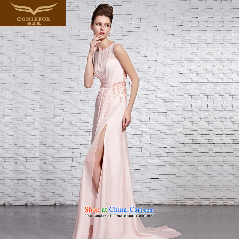 Creative Fox evening dresses pink shoulders long bride dress stylish irrepressible saika dress skirts and sexy tail dress marriage services 81,500 pictures transmitted color?XXL
