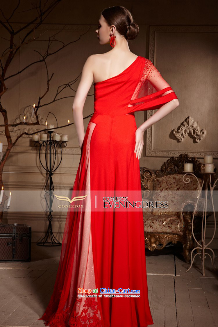 Creative Fox evening dresses聽2015 new bride red single shoulder wedding dresses and long evening dresses bows wedding dress skirt聽30638聽Red聽L picture, prices, brand platters! The elections are supplied in the national character of distribution, so action, buy now enjoy more preferential! As soon as possible.