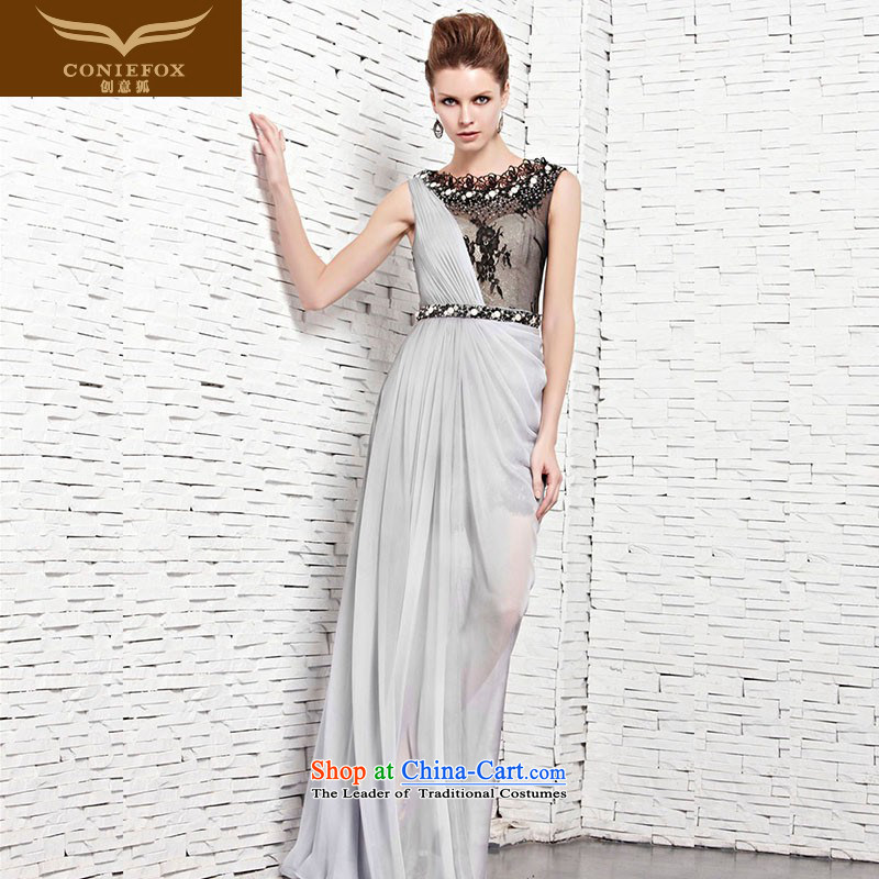 Creative Fox evening dresses and sexy long dresses skirts banquet elegant lace diamond evening dresses wedding dresses annual banquet dress uniform color photo of bows 81535?S