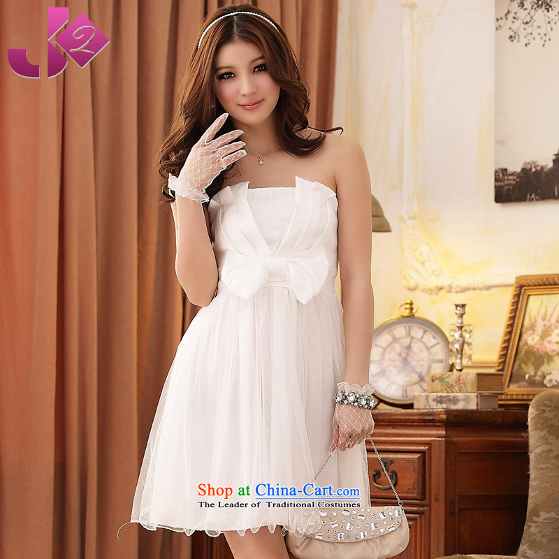 ?Large Jk2.yy female Korean to intensify bridesmaid dress pink dresses, chest and sister services to meet performance white?XL recommendations about 135