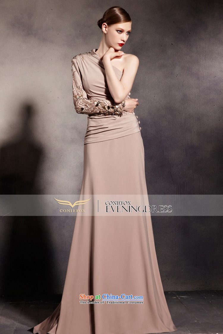 Creative Fox evening dress stylish shoulder long-sleeved banquet evening dress elegant long tail dress evening dress under the auspices of the Annual Services聽81693聽color photo of bows聽L picture, prices, brand platters! The elections are supplied in the national character of distribution, so action, buy now enjoy more preferential! As soon as possible.
