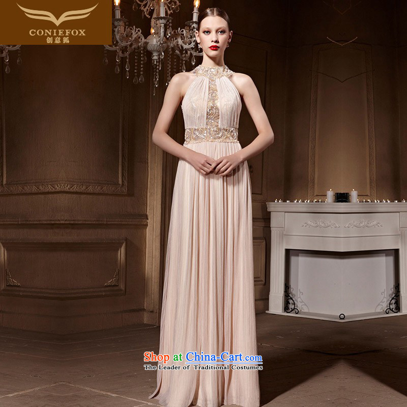 Creative Fox evening dresses classy hang also dress long under the auspices of the Sau San banquet evening dress bows services gathering dress temperament long skirt 82012 picture color XL