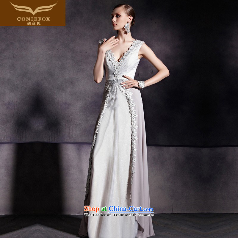 The kitsune dress creative new long banquet dinner dress shoulders V-neck, held under the auspices of the Sau San dress suit to align the Sau San long gown 81859 picture�XL