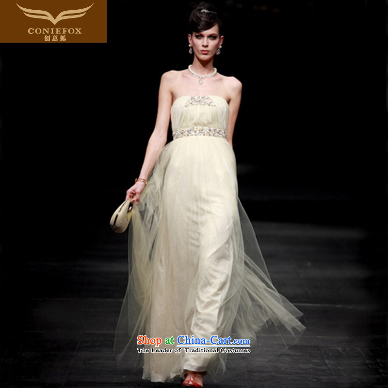 Creative Fox evening dresses and chest banquet evening dresses evening dresses bows services under the auspices of long skirt elegant long bridesmaid dress Yingbin dress 80630 picture color�XXL
