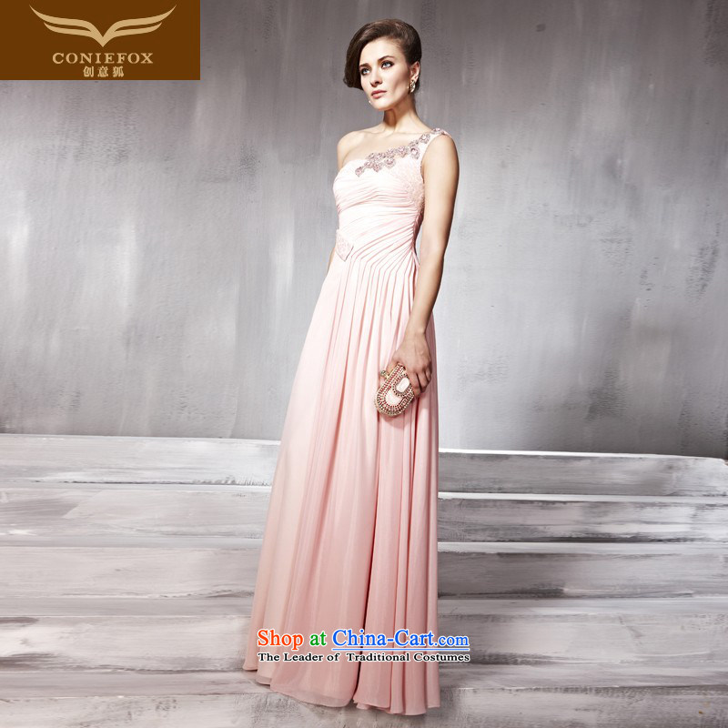 Creative Fox evening dress Princess Bride bridesmaid bows services pink wedding dress hospitality services under the auspices of the annual dress will long skirt 56822 pink�XXL