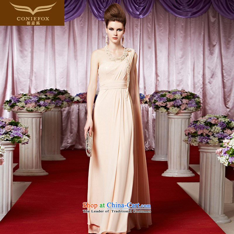 Creative Fox evening dresses sit back and relax in one of the apricot long evening dresses exhibition red carpet dress bridal dresses shoulder sweet to dress skirt 30321 color picture?XXL