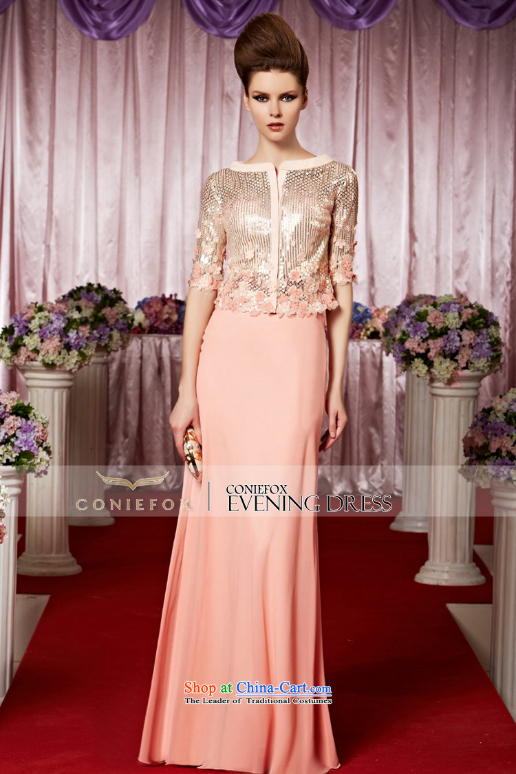 Creative Fox evening dresses evening banquet bridesmaid wedding services welcome service light pink tab to wedding dress long auspices evening dresses long skirt 30386 color picture pictures, prices, L brand platters! The elections are supplied in the national character of distribution, so action, buy now enjoy more preferential! As soon as possible.