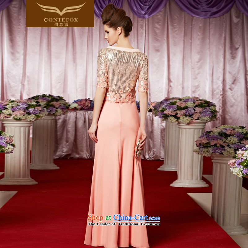 Creative Fox evening dresses evening banquet bridesmaid wedding services welcome service light pink tab to wedding dress long auspices evening dresses long skirt 30386 color pictures , L, creative Fox (coniefox) , , , shopping on the Internet