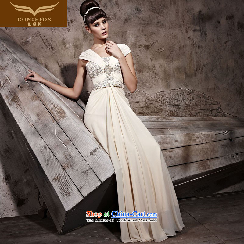 Creative Fox evening dresses and sexy package shoulder long dresses skirts banquet wedding dress will conduct annual bridesmaid bride services dress uniform color pictures courtesy 81033?S