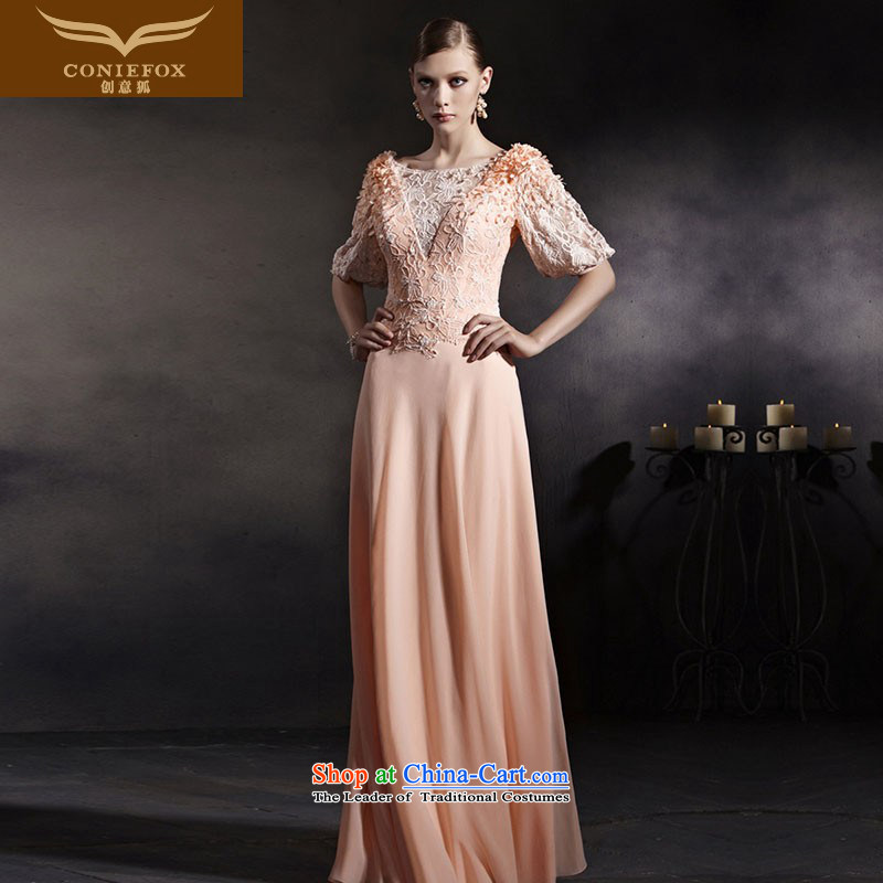 Creative Fox evening dress stylish new pink dress in cuff banquet Top Loin of Sau San dress long bridesmaid services under the auspices of dress uniform color pictures courtesy 30555?M