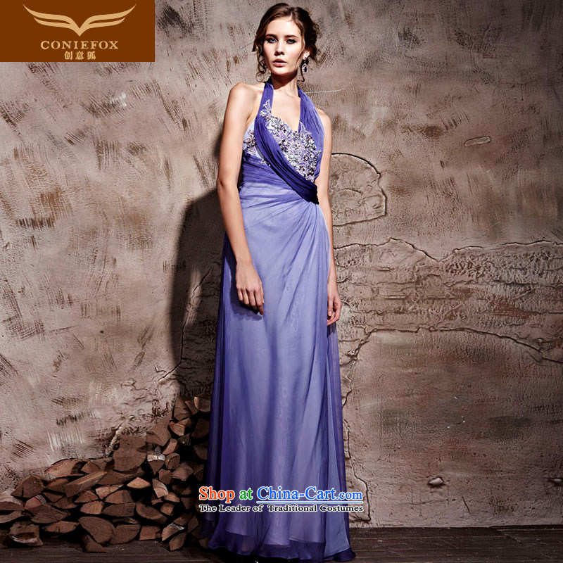 Creative Fox evening dresses and sexy hang also banquet evening dresses purple wedding dresses services under the auspices of the annual theatrical dress Yingbin dress�81061�purple�L