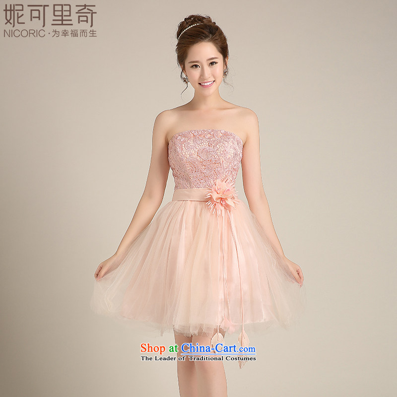 Bridesmaid dress 2015 winter new Korean short of stylish dress bridesmaid sister married her dress skirt bride bows?C annual service banquet?M_7 days no reason to return_