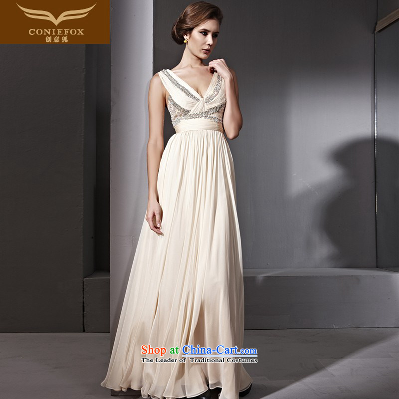 Creative Fox evening dress shoulders Deep v Foutune of dress marriages bows dress long to dress suit to preside over long skirt picture color?S$81,100