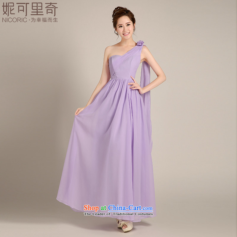 Kidman, bridesmaid dress 2015 winter new Korean purple long) dress bridesmaid mission sister skirt bridesmaid evening dresses women serving long serving under the auspices of the annual meeting�of�M standard code B)