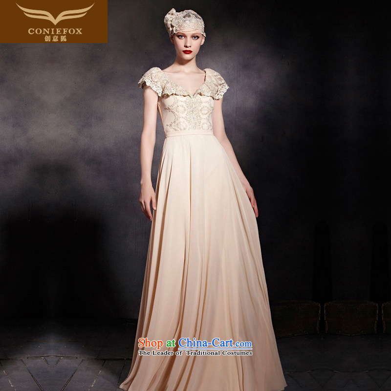 The kitsune dress creative new bon bon Princess Bride dress dresses performances shoulders to dress sit back and relax in one of the Banquet dress skirt 30606 color picture�M