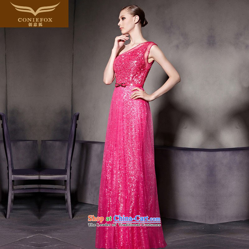 Creative Fox evening dresses new stylish light slice evening dresses in the red will evening drink dress wedding dress red carpet dress long 30583 picture color?L