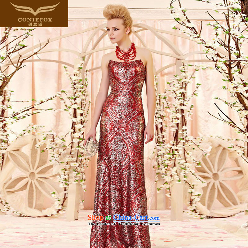 The kitsune style arc for creative and chest banquet evening dresses marriage bows Services Red Carpet show annual dinner dress suit skirt 30303 under the auspices of picture color?XL
