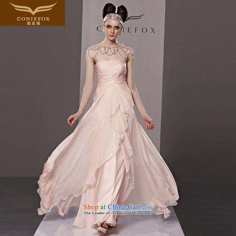 Creative Fox evening dress pink dress and Princess sweet chest Long Adult dress wedding dresses bridesmaid dress skirt�81150�color pictures under the auspices of dress�L