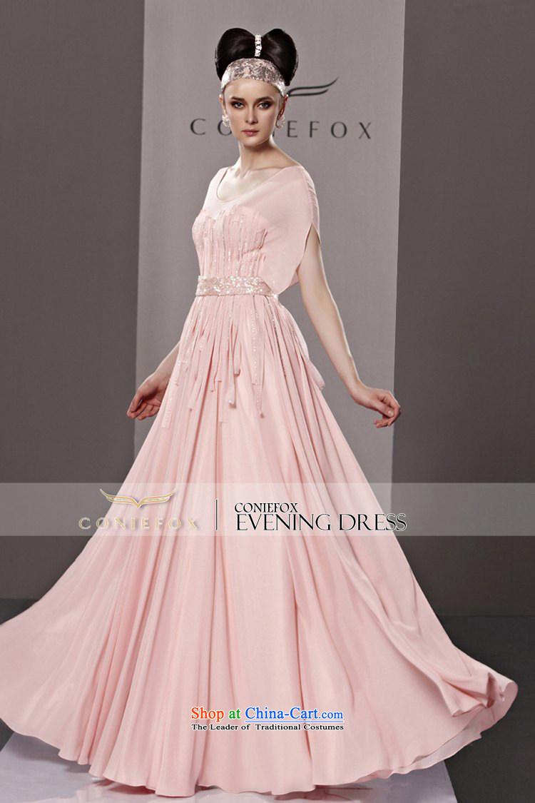 Creative Fox evening dresses pink sweet short-sleeved Princess Bride ...