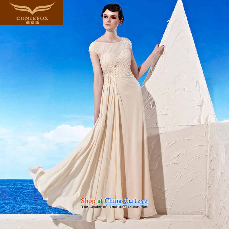The kitsune dress creative new champagne color elegant evening dress video banquet slender, dresses show welcome dress bridesmaid dress 56950 color picture?S